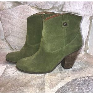 "Vince Camuto ""Hammerton"" Army Green Booties"